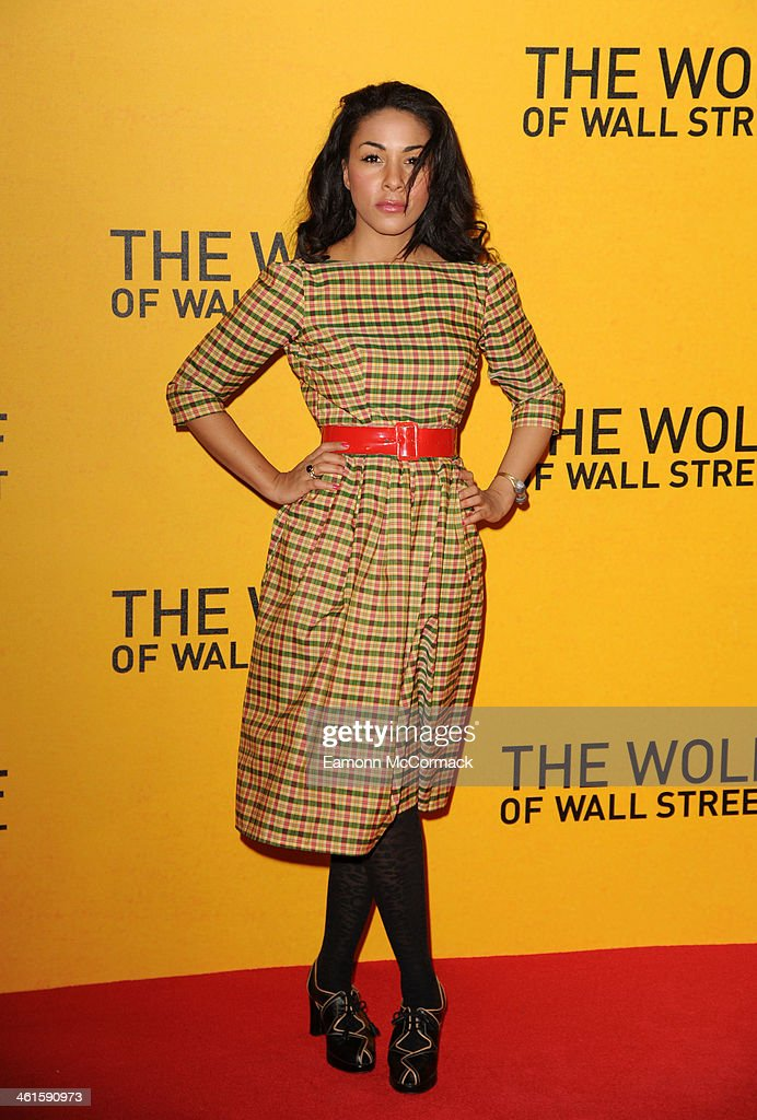 Kathryn Drysdale attends the UK Premiere of 'The Wolf Of Wall Street' at Odeon Leicester Square on January 9, 2014 in London, England.