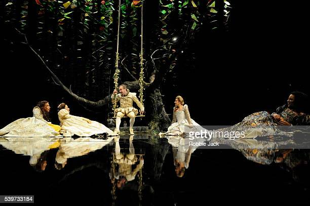Kathryn Drysdale Mariah Gale Natalie Walter Nina Sosanya and Mark Hadfield perform in the Royal Shakespeare Company's production of William...
