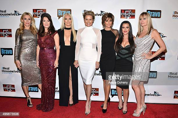 Kathryn Edwards Lisa Vanderpump Erika Girardi Yolanda Foster Lisa Rinna Kyle Richards and Eileen Davidson attend the premiere party for Bravo's 'The...