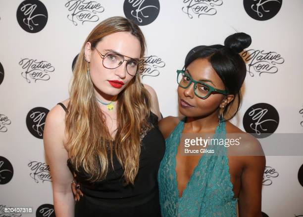 Kathryn Gallagher and Adrienne Warren pose at the Native Ken Eyewear NYC Launch Party at Native Ken on July 20 2017 in New York City