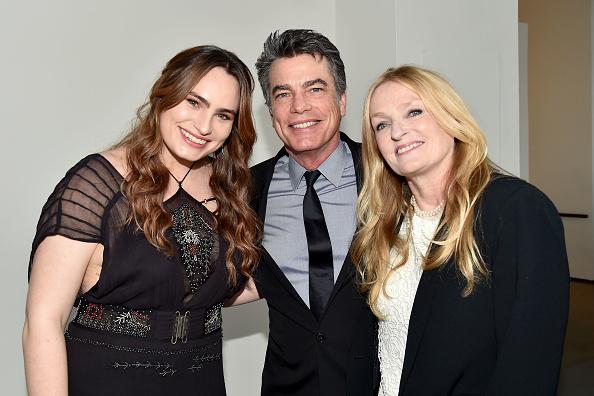 Kathryn Gallagher, Peter Gallagher, and Paula Harwood attend the Joyful Revolution Gala hosted by Mariska Hargitay's Joyful Heart Foundation at Spring Studios on May 22 2017 in New York City.