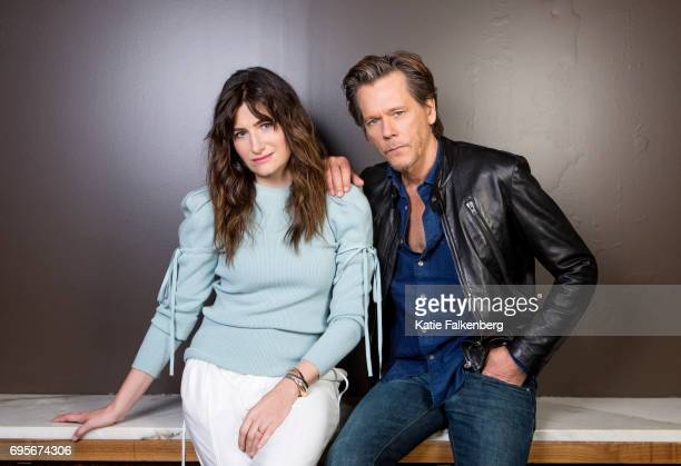 Kathryn Hahn and Kevin Bacon are photographed for Los Angeles Times on April 20 2017 in Los Angeles California PUBLISHED IMAGE CREDIT MUST READ Katie...