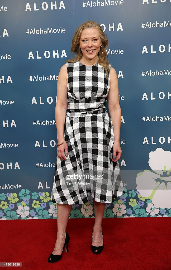 Kathryn Meisle attends a VIP screening of 'Aloha' at Soho Hotel on May 16 2015 in London England