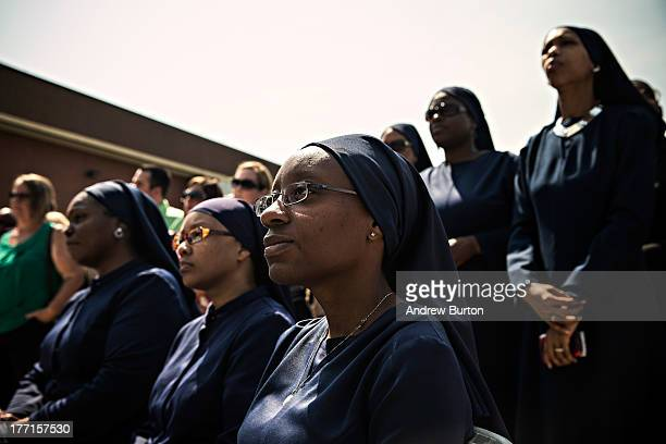 Kathryn Muhammad master teacher at University of Islam attends a press conference announcing a new superintendent of Camden School District on August...