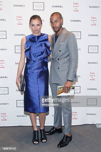 Kathryn Neale and Charles Harbinson attend the 2013 'Take Home A Nude' Benefit Art Auction And Party at Sotheby's on October 8 2013 in New York City
