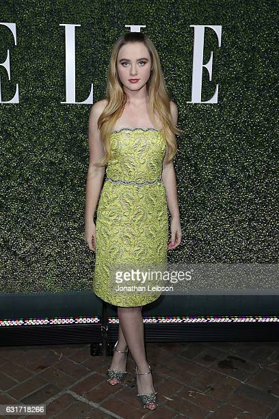 Kathryn Newton attends the ELLE's Annual Women In Television Celebration 2017 Red Carpet at Chateau Marmont on January 14 2017 in Los Angeles...