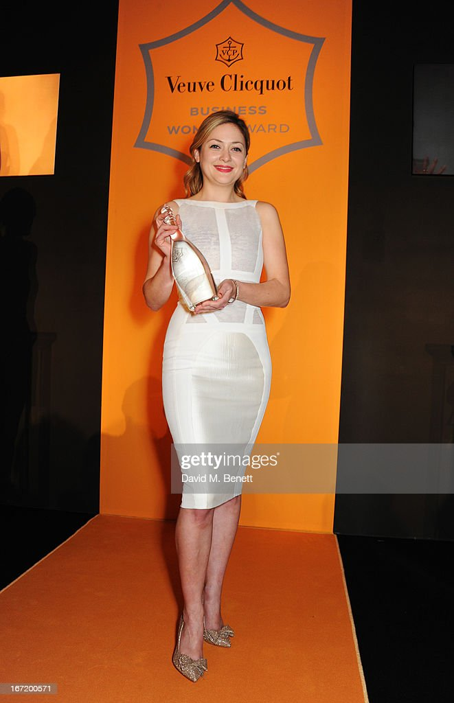 Kathryn Parsons, winner of the New Generation award, attends the Veuve Clicquot Business Woman Award 2013 at Claridge's Hotel on April 22, 2013 in London, England.