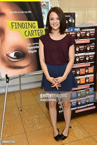 Kathryn Prescott attends MTV's 'Finding Carter' fan event and to celebrate the twins Carter and Taylor's birthday at BaskinRobbins on August 12 2014...