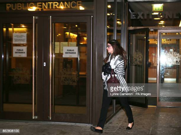 Kathryn Smith leaves Manchester Crown Court where she is charged with conspiracy to commit misconduct in public office as the police callhandler fed...