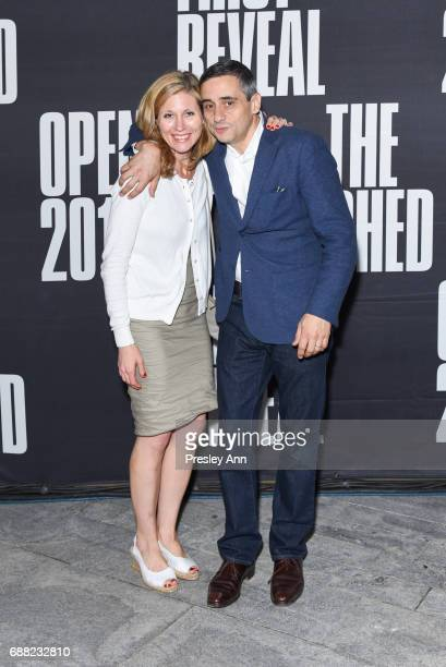 Kathryn SpellmanPoots and Alex Poots attend The Shed First Reveal VIP Cocktail Party at The Shed on May 24 2017 in New York City