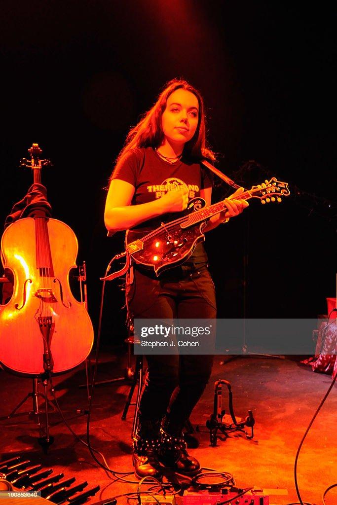 Kathryn von Grey of Von Grey performs at Headliners Music Hall on February 6, 2013 in Louisville, Kentucky.