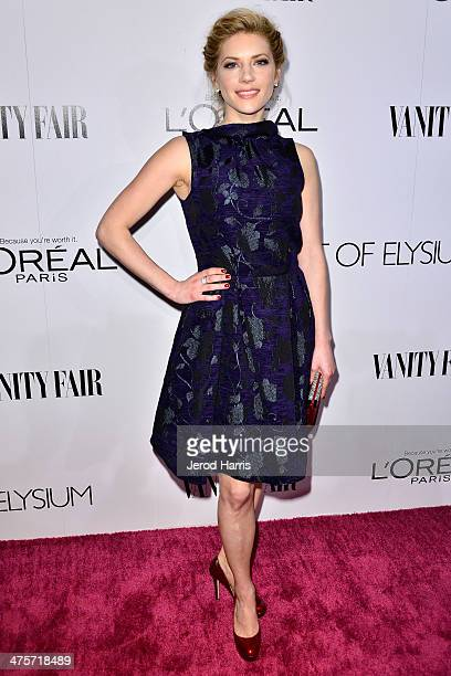 Kathryn Winnick attends the Vanity Fair Campaign Hollywood Kick Off at Sadie Kitchen and Lounge on February 28 2014 in Los Angeles California