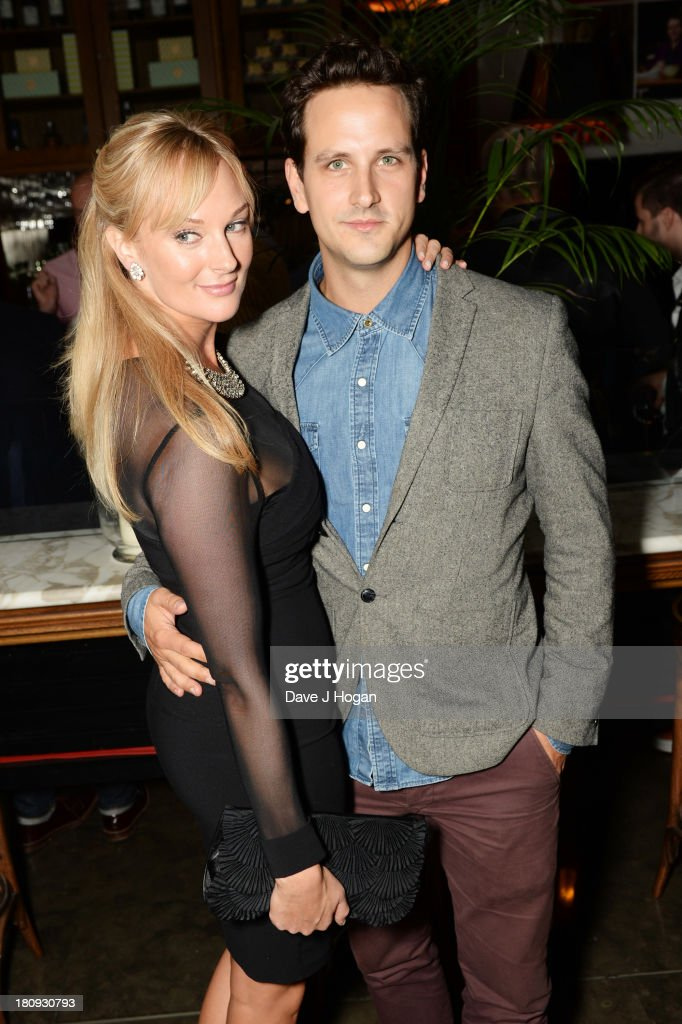 Kathryne Kingsley and Dominic Tighe attend the afterparty for Midsummer Nights Dream at The National Gallery on September 17, 2013 in London, England.