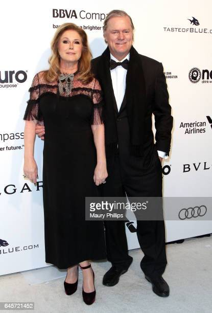 Kathy and Rick Hilton attend the 25th annual Elton John AIDS Foundation's Oscar Viewing Party at The City of West Hollywood Park on February 26 2017...