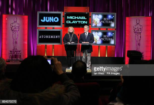 Kathy Bates and Sid Ganis The President of the Academy of Motion Picture Arts and Sciences announce the 80th Academy Award Nominations for Best...