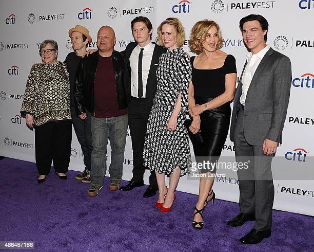 Kathy Bates Denis O'Hare Michael Chiklis Evan Peters Sarah Paulson Jessica Lange and Finn Wittrock attend the 'American Horror Story Freak Show'...