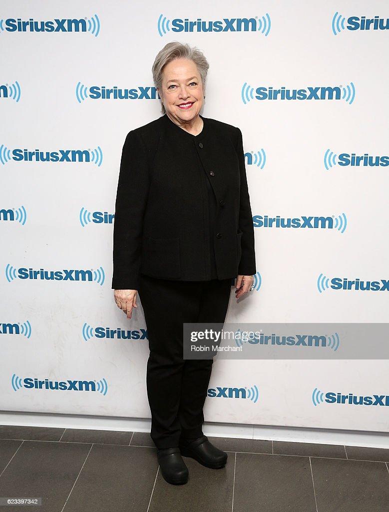 Kathy Bates visits at SiriusXM Studio on November 15, 2016 in New York City.
