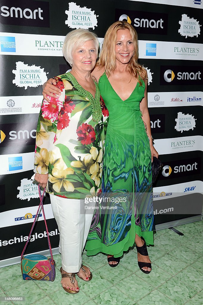 Kathy Bello and <a gi-track='captionPersonalityLinkClicked' href=/galleries/search?phrase=Maria+Bello&family=editorial&specificpeople=201770 ng-click='$event.stopPropagation()'>Maria Bello</a> attends Day 2 of the 2012 Ischia Global Fest on July 9, 2012 in Ischia, Italy.