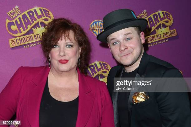 Kathy Fitzgerald and F Michael Haynie attend 'Charlie And The Chocolate Factory' Broadway Opening Night at Pier 60 on April 23 2017 in New York City