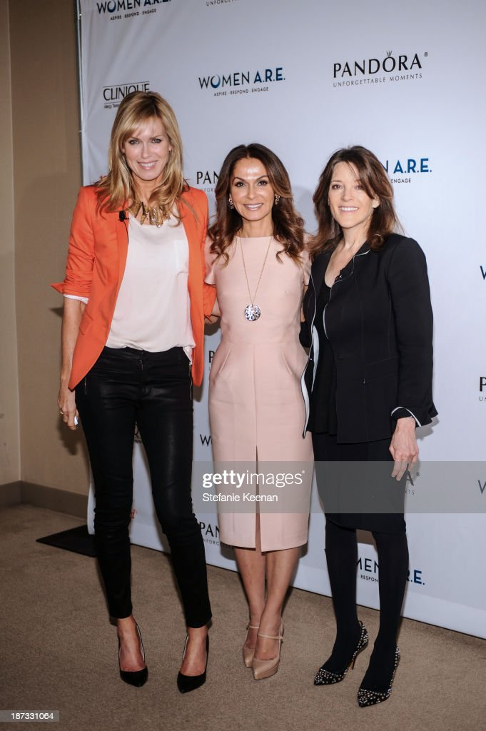 Kathy Freston, Angella Nazarian and Marianne Wiliamson attend WOMEN A.R.E Inaugural Summit Presented By PANDORA at SLS Hotel on November 7, 2013 in Beverly Hills, California.