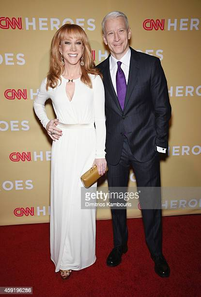 Kathy Griffin and Anderson Cooper attend the 2014 CNN Heroes An All Star Tribute at American Museum of Natural History on November 18 2014 in New...