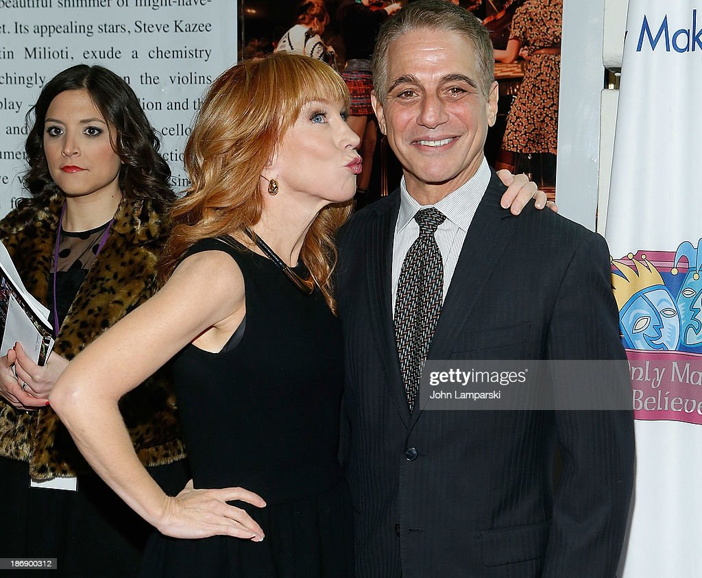<a gi-track='captionPersonalityLinkClicked' href=/galleries/search?phrase=Kathy+Griffin&family=editorial&specificpeople=203161 ng-click='$event.stopPropagation()'>Kathy Griffin</a> and <a gi-track='captionPersonalityLinkClicked' href=/galleries/search?phrase=Tony+Danza&family=editorial&specificpeople=203133 ng-click='$event.stopPropagation()'>Tony Danza</a> attend the 14th annual Make Believe On Broadway gala at The Bernard B. Jacobs Theatre on November 4, 2013 in New York City.