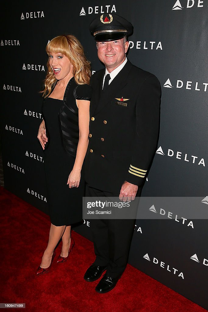 <a gi-track='captionPersonalityLinkClicked' href=/galleries/search?phrase=Kathy+Griffin&family=editorial&specificpeople=203161 ng-click='$event.stopPropagation()'>Kathy Griffin</a> arrives at Delta Air Lines' GRAMMY Celebration At Getty House on February 7, 2013 in Los Angeles, California.