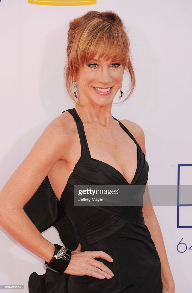 Kathy Griffin arrives at the 64th Primetime Emmy Awards at Nokia Theatre L.A. Live on September 23, 2012 in Los Angeles, California.