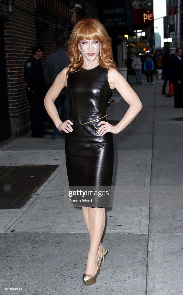 Kathy Griffin arrives for the 'Late Show with David Letterman' at Ed Sullivan Theater on November 3, 2013 in New York City.