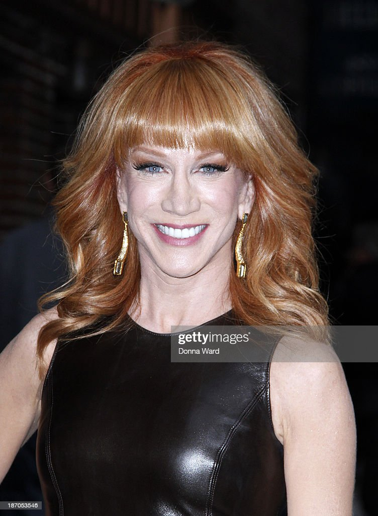 <a gi-track='captionPersonalityLinkClicked' href=/galleries/search?phrase=Kathy+Griffin&family=editorial&specificpeople=203161 ng-click='$event.stopPropagation()'>Kathy Griffin</a> arrives for the 'Late Show with David Letterman' at Ed Sullivan Theater on November 3, 2013 in New York City.
