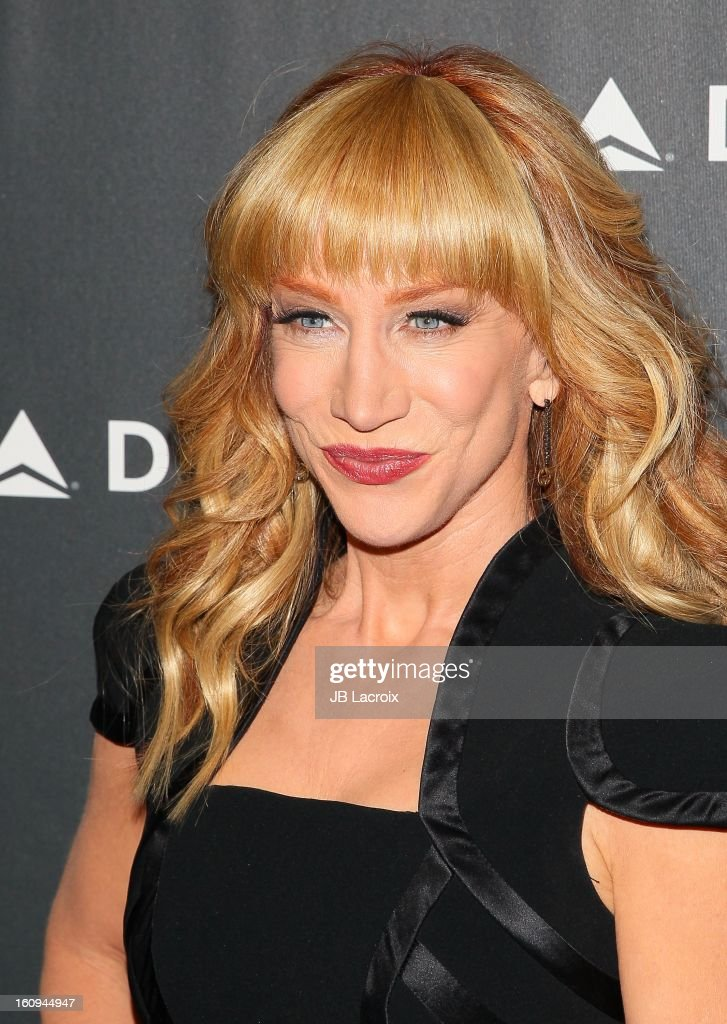 <a gi-track='captionPersonalityLinkClicked' href=/galleries/search?phrase=Kathy+Griffin&family=editorial&specificpeople=203161 ng-click='$event.stopPropagation()'>Kathy Griffin</a> attends the Delta Airlines GRAMMY Week LA Music Industry held at The Getty House on February 7, 2013 in Los Angeles, California.