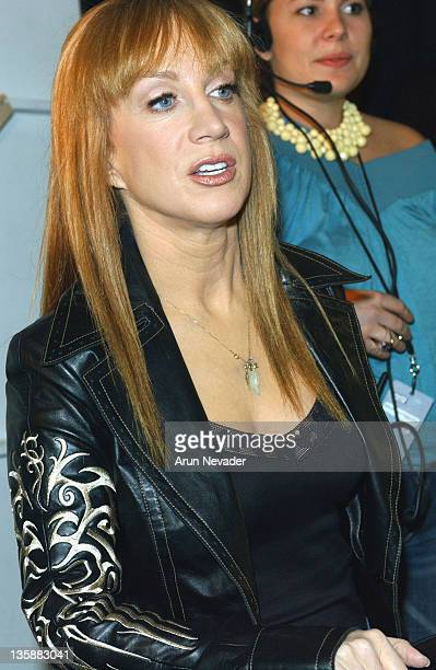 Kathy Griffin during MercedesBenz Spring 2005 Fashion Week at Smashbox Studios Sheri Bodell Backstage at Smashbox Studios in Culver City Califonia...