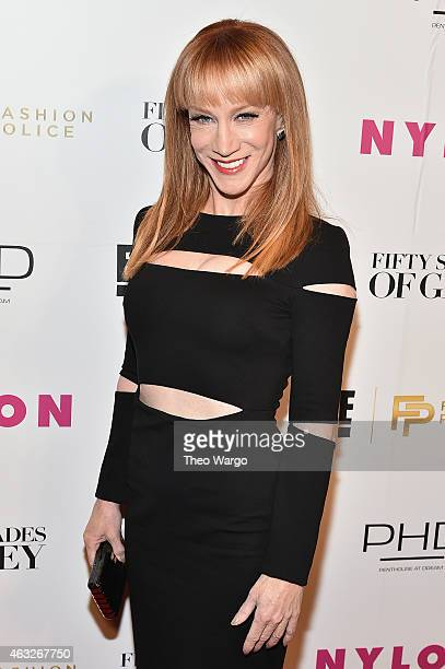 Kathy Griffin Host of E's 'Fashion Police' attends E 'Fashion Police' and NYLON kickoff of NY Fashion Week with 50 Shades of Fashion in celebration...