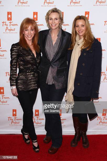Kathy Griffin Jane Lynch and Lisa Kudrow arrive to Kathy Griffin In Concert at Gibson Amphitheatre on December 16 2010 in Universal City California