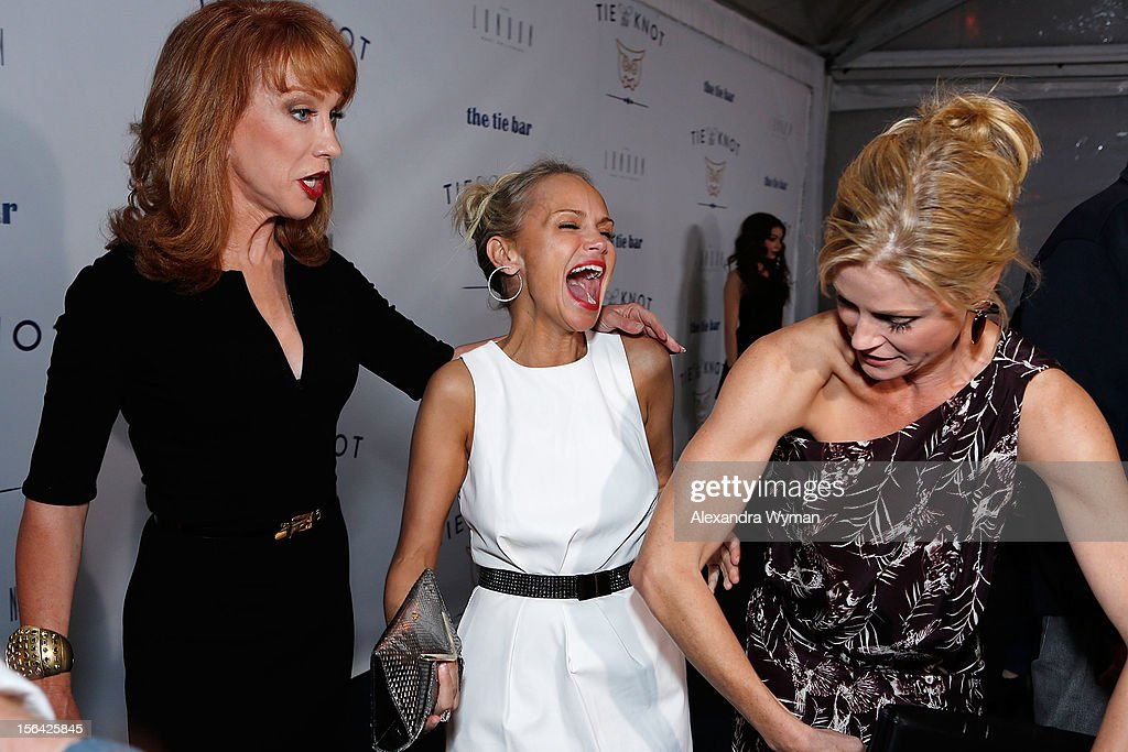 Kathy Griffin, Kristin Chenoweth and Julia Bowen at the launch of Tie The Knot, a charity benefitting marriage equality through the sale of limited edition bowties available online at TheTieBar.com/JTF held at The London West Hollywood on November 14, 2012 in West Hollywood, California.