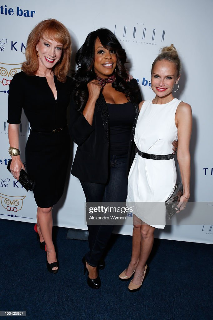 Kathy Griffin, Niecy Nash and Kristin Chenoweth at the launch of Tie The Knot, a charity benefitting marriage equality through the sale of limited edition bowties available online at TheTieBar.com/JTF held at The London West Hollywood on November 14, 2012 in West Hollywood, California.