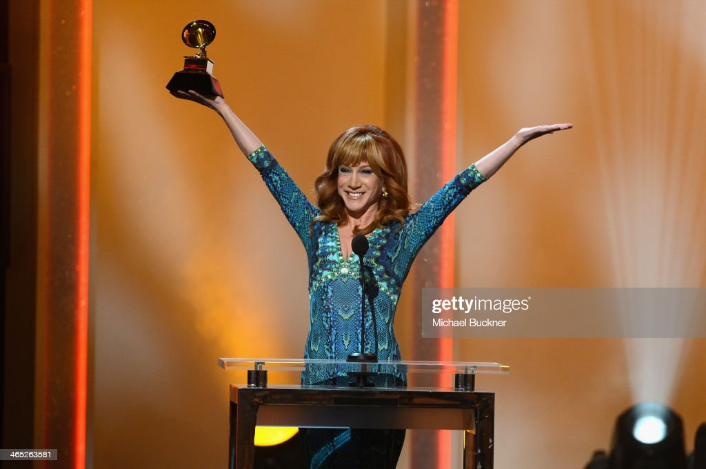 <a gi-track='captionPersonalityLinkClicked' href=/galleries/search?phrase=Kathy+Griffin&family=editorial&specificpeople=203161 ng-click='$event.stopPropagation()'>Kathy Griffin</a> onstage during the 56th GRAMMY Awards Pre-Telecast at Nokia Theatre L.A. Live on January 26, 2014 in Los Angeles, California.