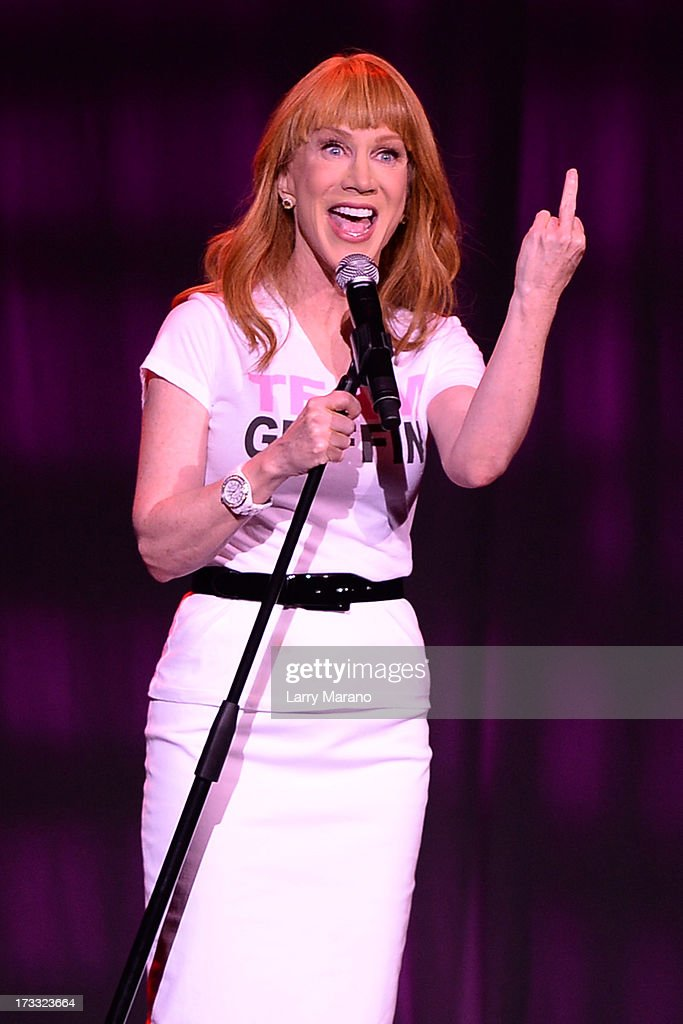 Kathy Griffin performs at Hard Rock Live! in the Seminole Hard Rock Hotel & Casino on July 11, 2013 in Hollywood, Florida.