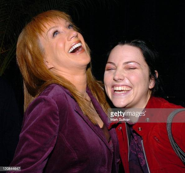 Kathy Griffin with Amy Lee of Evanescence during Backstage Creations 2004 Billboard Music Awards The Talent Retreat Day One at Grand Garden Arena at...