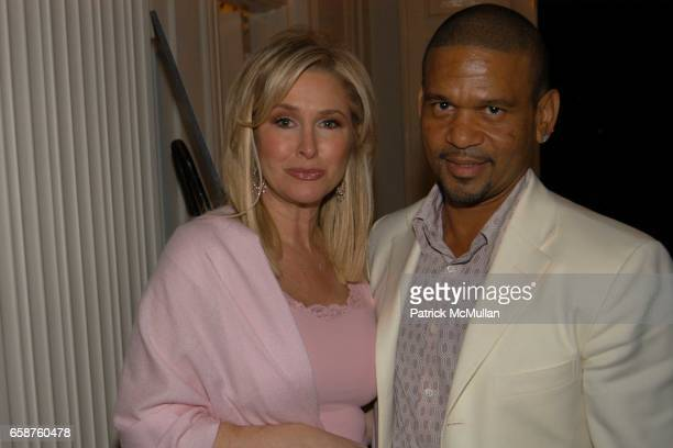 Kathy Hilton and Benny Medina attend Kathy and Rick Hilton's party for Donald Trump and 'The Apprentice' at the Hiltons' Home on February 28 2004 in...