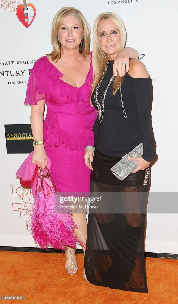 Kathy Hilton (L) and Kim Richards attend the 20th Annual Race to Erase MS Gala 'Love to Erase MS' at the Hyatt Regency Century Plaza on May 3, 2013 in Century City, California.