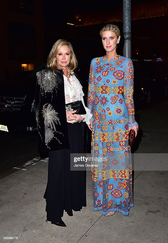 Kathy Hilton and Nicky Hilton attend 'An Evening Honoring Valentino' Lincoln Center Corporate Fund Gala at Alice Tully Hall at Lincoln Center on December 7, 2015 in New York City.