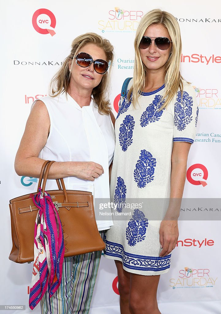 <a gi-track='captionPersonalityLinkClicked' href=/galleries/search?phrase=Kathy+Hilton&family=editorial&specificpeople=209306 ng-click='$event.stopPropagation()'>Kathy Hilton</a> (L) and Nicky Hilton attend QVC Presents Super Saturday LIVE! at Nova's Ark Project on July 27, 2013 in Water Mill, New York.