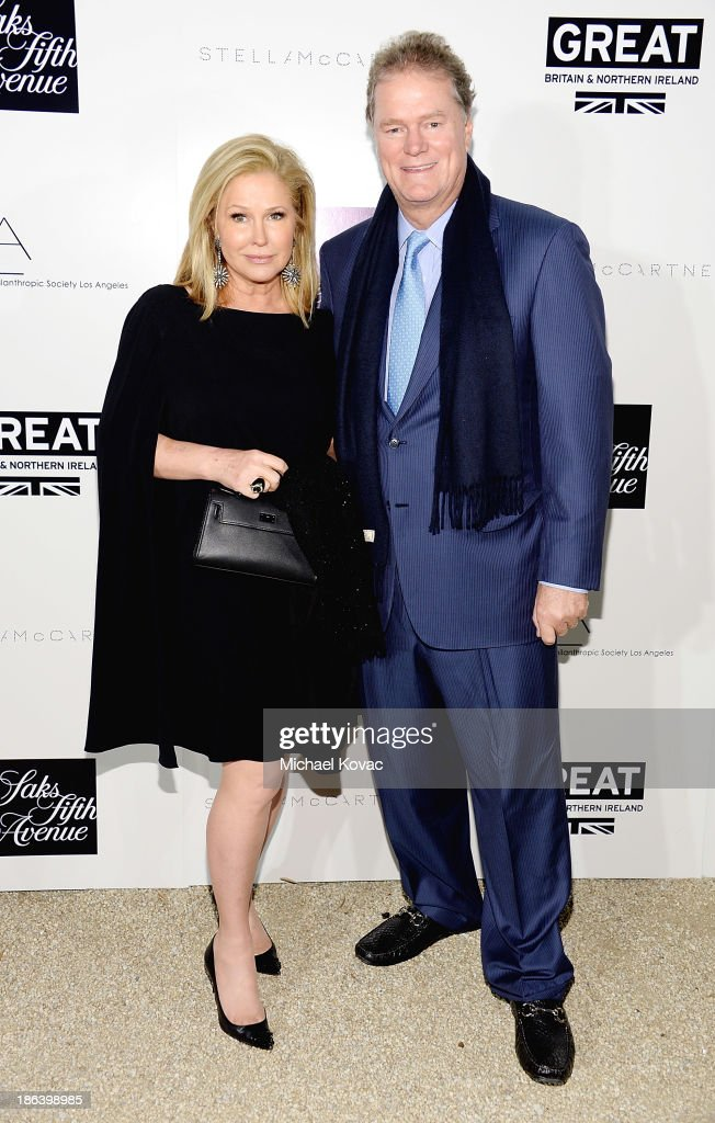 <a gi-track='captionPersonalityLinkClicked' href=/galleries/search?phrase=Kathy+Hilton&family=editorial&specificpeople=209306 ng-click='$event.stopPropagation()'>Kathy Hilton</a> and <a gi-track='captionPersonalityLinkClicked' href=/galleries/search?phrase=Rick+Hilton&family=editorial&specificpeople=207176 ng-click='$event.stopPropagation()'>Rick Hilton</a> arrive at the Fourth Annual Autumn Party With Stella McCartney on October 30, 2013 in Los Angeles, California.