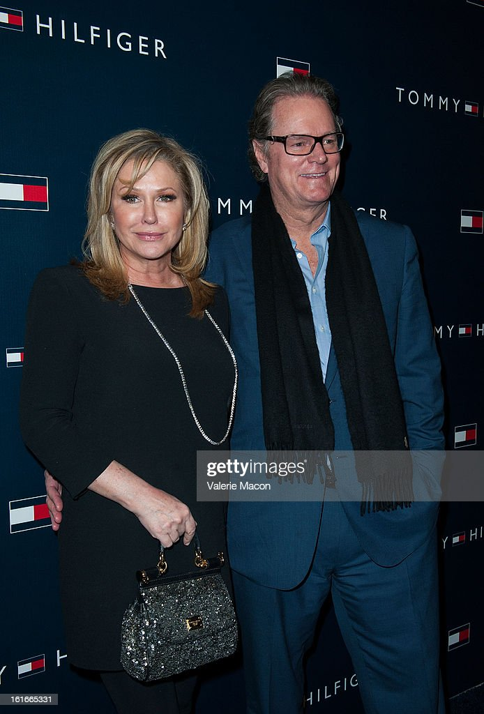 Kathy Hilton and Rick Hilton arrives at the Tommy Hilfiger LA Flagship Opening on February 13, 2013 in Los Angeles, California.