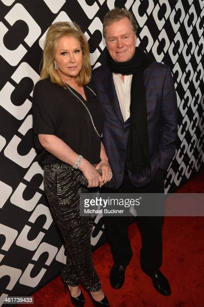Kathy Hilton and Rick Hilton attend Diane Von Furstenberg's Journey of A Dress Exhibition Opening Celebration at May Company Building at LACMA West...