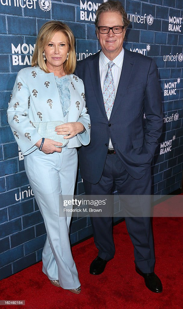 Kathy Hilton (L) and Rick Hilton attend the Montblanc And UNICEF Host Pre-Oscar Brunch Celebrating Their Limited Edition Collection at the Hotel Bel-Air on February 23, 2013 in Los Angeles, California.