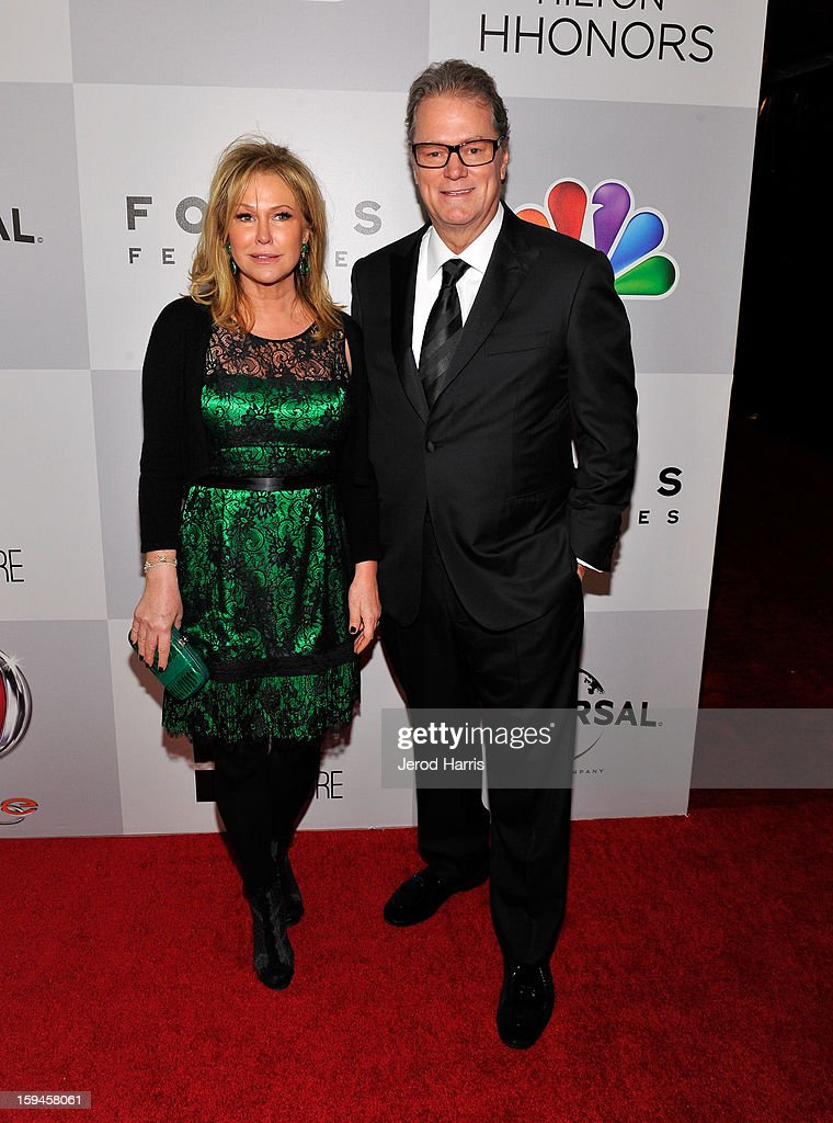 Kathy Hilton (L) and Rick Hilton attend the NBCUniversal Golden Globes viewing and after party held at The Beverly Hilton Hotel on January 13, 2013 in Beverly Hills, California.