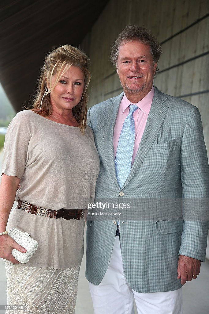 <a gi-track='captionPersonalityLinkClicked' href=/galleries/search?phrase=Kathy+Hilton&family=editorial&specificpeople=209306 ng-click='$event.stopPropagation()'>Kathy Hilton</a> and <a gi-track='captionPersonalityLinkClicked' href=/galleries/search?phrase=Rick+Hilton&family=editorial&specificpeople=207176 ng-click='$event.stopPropagation()'>Rick Hilton</a> attend the Parrish Art Museum 2013 Midsummer Party on July 13, 2013 in Southampton, United States.
