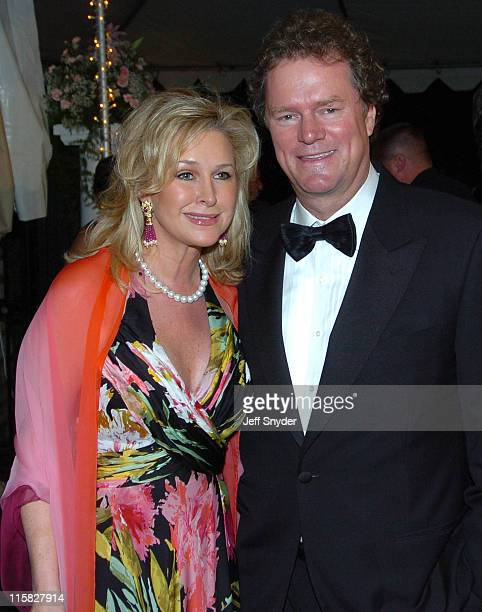 Kathy Hilton and Rick Hilton during The Barnstable Brown Party at Private Residence in Louisville KY